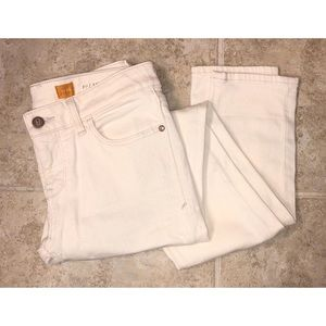 Pilcro and the Letterpress Fit Off-White Jeans 26